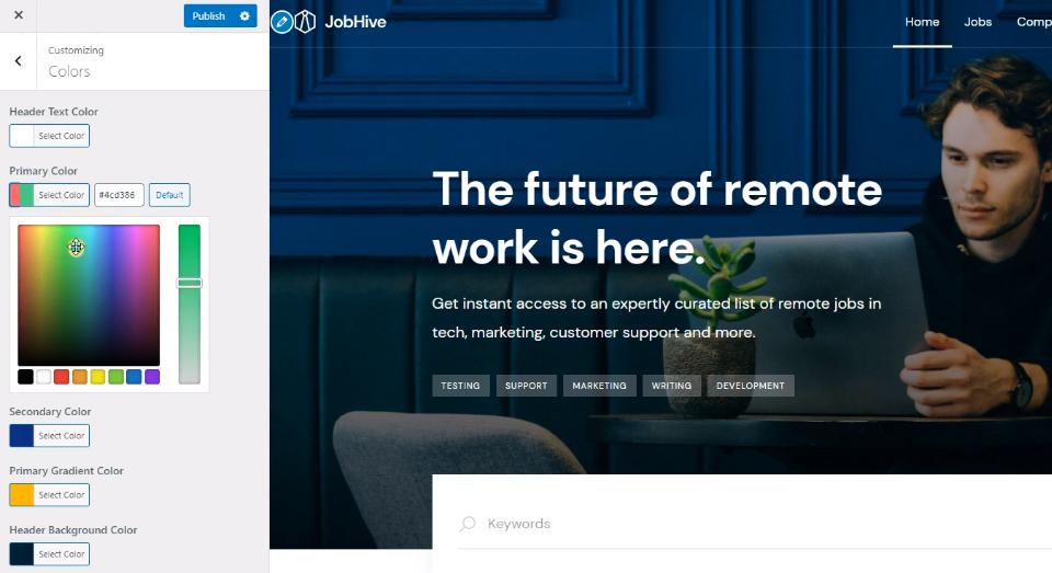 Job board WordPress theme.