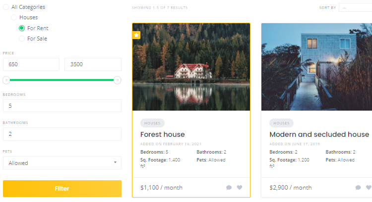 Create a real estate directory listing with WordPress.