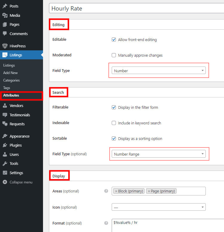 Adding custom listing fields to the marketplace of services.