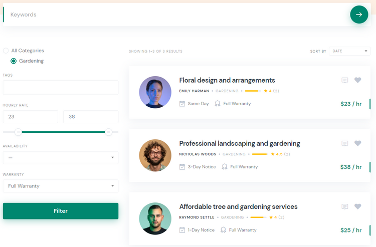 Create a peer-to-peer service marketplace with WordPress