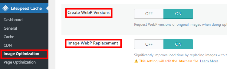 Optimizing media content on the WordPress-built website.