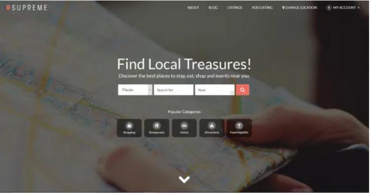 Supreme Directory, a free WordPress theme.