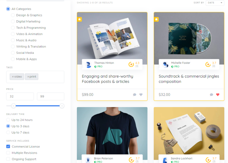 Service marketplace like Fiverr built with WordPress