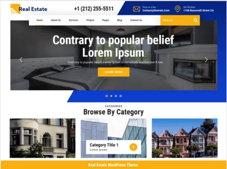 WordPress real estate theme.