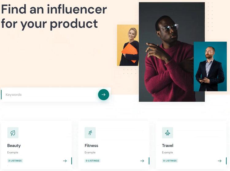 An Influencer Marketing Platform built with WordPress.