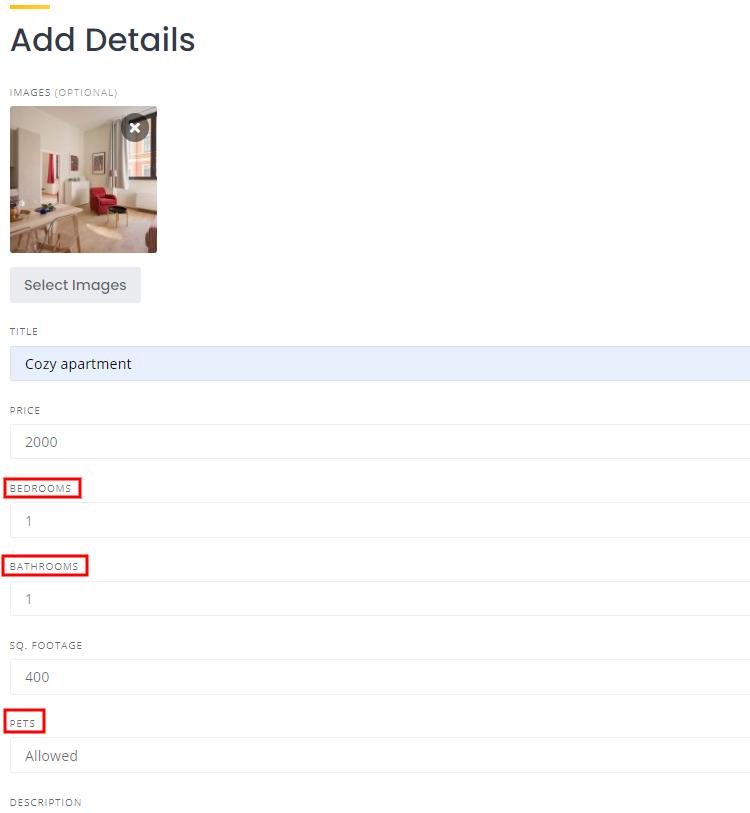 Adding real estate listing.