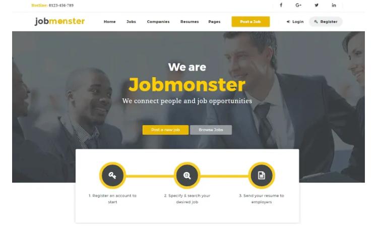 Jobmonster, a premium WordPress job board theme.