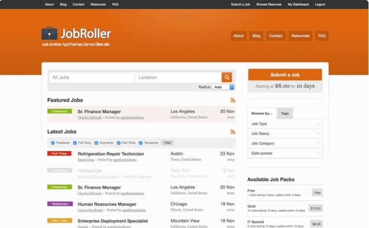 A premium job board WordPress theme.