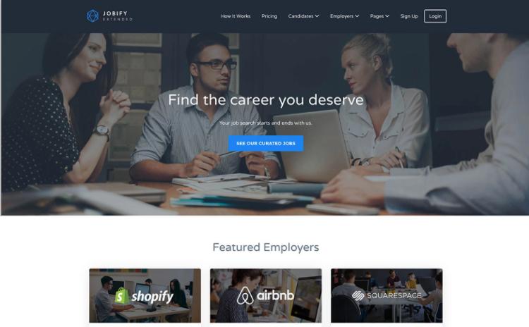 Jobify, the most popular WordPress job portal theme.