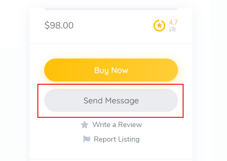 """An example of the """"Send Message"""" button."""