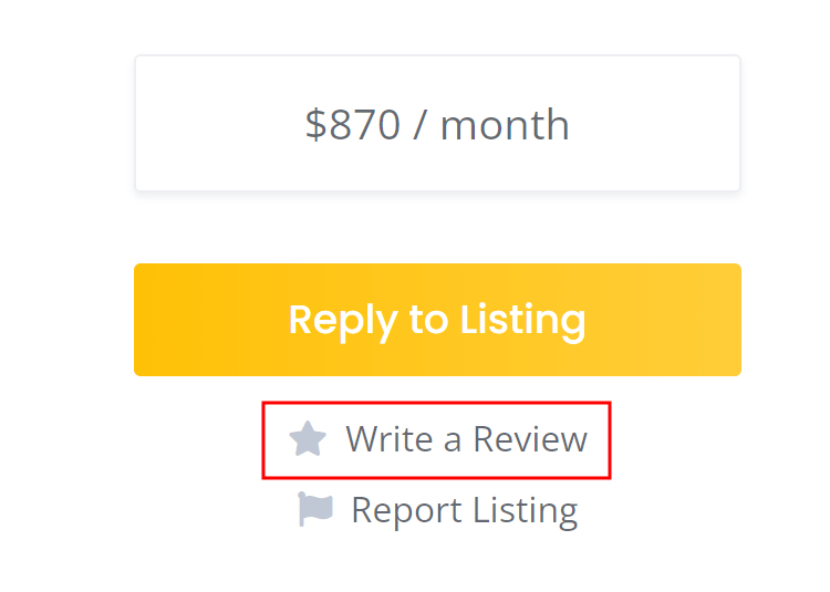 Example of how to leave a review on a website.