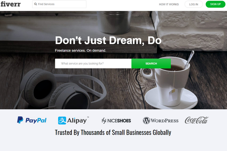 FiverrWP, a micro job WordPress theme.