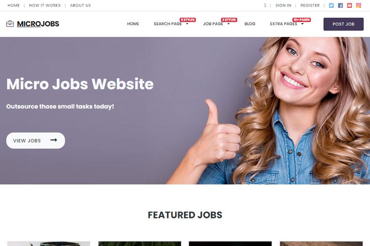 Micro Jobs Theme.